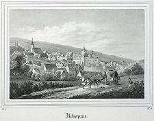 Zschopau-vista general-Saxonia-litografía 1836