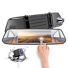 "TOGUARD 7"" IPS Touch Screen Rear View Car Camera 1080P Dual Lens Mirror DashCam"