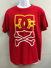 DC SHOE Co. Mens size M Red Short Sleeve T-shirt w Spell Out