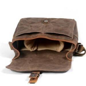 Vintage Canvas Camera Bag DSLR Soft Cotton Inner Material 30*10*20cm Waterproof