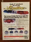 Vintage Code 3 Excalibur Lightbar Print Ad Rotator Strobe MX7000