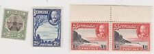 (WT-4) 1902-20 Bermuda 4mix ½d dry rock 1d pair& 2d grey KGV MH (A)