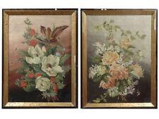paire de bouquets de fleurs époque fin XIXème