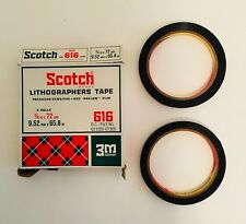 Vintage Scotch 3M Lithographers Tape 3/8 Red Paklon Drafting Graphic Photography