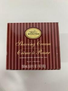 The Art of Shaving Mens Sandalwood 5 Oz Shaving Cream Essential Oil Gel NIB