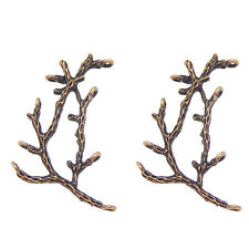 Red Copper Tone Alloy Branches Shaped Pendants Charms Crafts Findings 8pcs 35351