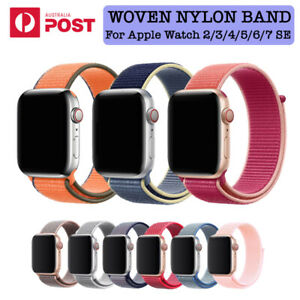 Nylon Woven Sport Strap Band 38 40 41 42 44 45mm for Apple Watch 7 6 5 4 3 2 SE