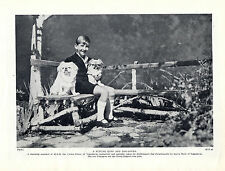 PEKINGESE THE YOUNG CROWN PRINCE OF YUGOSLAVIA AND HIS DOGS OLD 1934 DOG PRINT