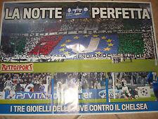 POSTER FC JUVENTUS - CHELSEA 3-0 20/11/2012 JUVE LA NOTTE PERFETTA TUTTOSPORT