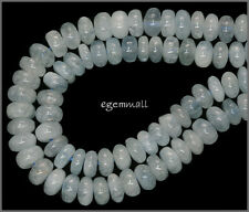 "15.6"" Aquamarine Rondelle Roundel Beads 8mm #56029"
