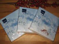 60 x Servietten Weihnachtsservietten Reh Papierservietten Home Fashion Schnee