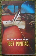 1957 Pontiac Owners Manual / Guide 57
