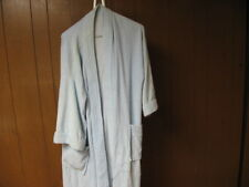Medium M Light Blue Bath Robe Long Sleeve w Pockets