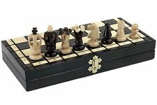 WOODEN MEDIUM HAND CRAFTED CHESS -WOOD -SET