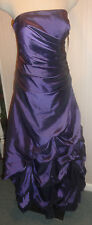 Ladies Jump Apparel Purple Formal Prom Homecoming Party Dress Size 9 - 10