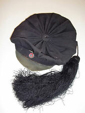 Antique Hat Large Long Silk Tassel Beret Cap  Norwegian Russelue