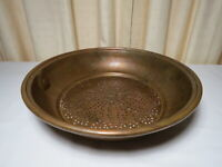 "Vintage Copper Colander Strainer Sifter Sieve 12"" with Hanging Ring"