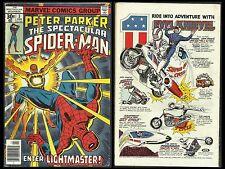 SPECTACULAR SPIDER-MAN #3 GD- (Marvel 1977) 1st LIGHTMASTER
