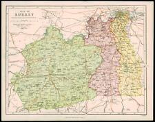More details for 1850 original antique map of surrey parliamentary divisions railroads (2)