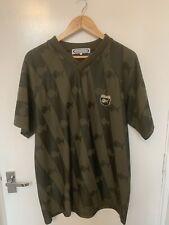 Mens Vintage Fishbone Fish Bone Skeleton T Shirt Football Style Top Large Rare
