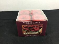 Yankee Candle Black Cherry Tea Light Candles Box Of 12 New Tealight Candles