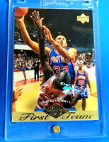 GRANT HILL RC 1995 UD FIRST TEAM ROOKIE CARD GOLD FOIL RARE ELECTRIC COURT HOF