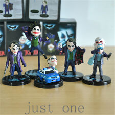 5pcs The Dark Knight Batman Joker Heath Ledger Mini Action Figure Toys Gift Set
