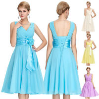 Short Chiffon Bridesmaid Homecoming Prom Ball Gown Party Evening Cocktail Dress*