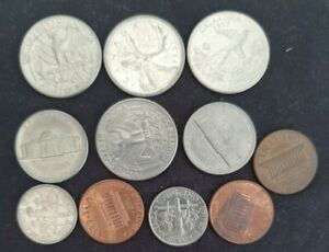 USA America Cent Quater Dollar Coins LOT Bundle collectable SCARCE 1 Canada 🤑