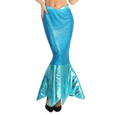 Women's Magical Mermaid Sparkle Tail Skirt Cosplay Halloween Deluxe Costume #XL