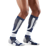 Skins Mens Active Compression Socks Blue White Sports Running Breathable