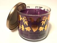 BATH & BODY WORKS BLACK CHERRY MERLOT LARGE 3-WICK 14.5 OZ SCENTED FILLED CANDLE