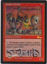 Foil Goblin Welder - Triple Signed by the Artist - Urza's Legacy MTG (Lot C)