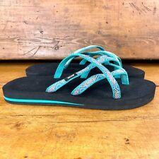 Teva Olowahu Thong Sandal #6840 - Isla Tropical Teal - Women's Size 11