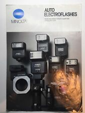 MINOLTA CAMERA AUTO ELECTROFLASH BROCHURE