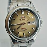 RARE Vintage Mens Watch ORIENT Calendar CRYSTAL 3 AAA Automatic 21 jewels Japan