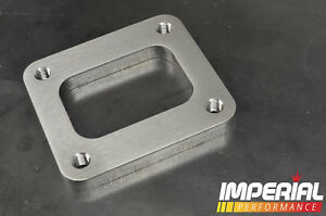 T4 turbo flange / spacer - 12mm STAINLESS STEEL *THREADED / TAPPED BOLT HOLES*