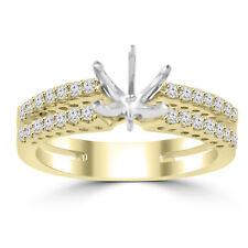 0.65 ct Ladies Round Cut Diamond Semi Mounting Engagement Ring 18 kt Yellow Gold