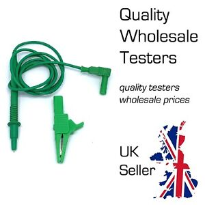 AMECaL TL-E Electrical Earth Bond Test Lead Probe & Croc Clip for PAT Testers