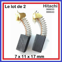 Lot de 2 Balais Charbons 7 x 11 x 17 mm HITACHI HIKOKI 999033