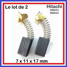 Lot de 2 Balais Charbons 7*11*17 mm Hitachi réf:999033 999043