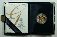 2004-W Proof 1/4 Oz American Gold Eagle $10 Coin w/ Box & COA