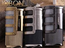 2017 Jobon Torch Windproof Triple Jet Flame Refillable Butane Gas Cigar Lighter