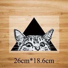 triangle cat pattern patch ironing stickers heat transfer iron on patchesSC