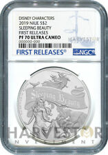 2019 DISNEY SLEEPING BEAUTY 1 OZ. SILVER COIN - NGC PF70 FIRST RELEASES W/OGP