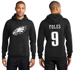 New Philadelphia Eagles Nick Foles 9 Jersey Logo Hoodie Men's Hooded Sweatshirt