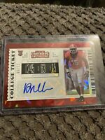D'ANDRE WALKER RC 2019 CONTENDERS DRAFT COLLEGE TICKET CRACKED ICE AUTO #8/23🔥