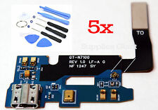 Samsung Galaxy Note 2 II GT- N7100 Charging Port & Mic Microphone Flex HQ Lot 5