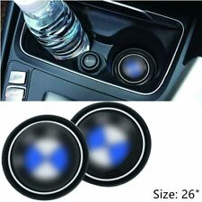 """2PCS Car Logo Cup Holder Coaster for BMW Accessories 2.6"""" Anti Slip Silicone"""