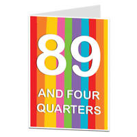 90th Birthday Card 90 Today Funny Quirky Design